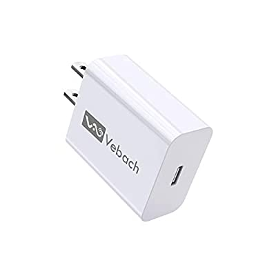 Vebach 18W Fast Power Delivery Adapter,Ultra-Compact USB-C PD Wall Charger