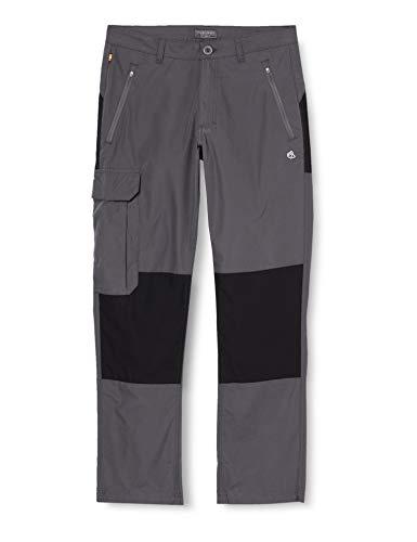 Craghoppers Traverse Pantalones, Hombre, Gris (Elephant/Black), talla EU: 52