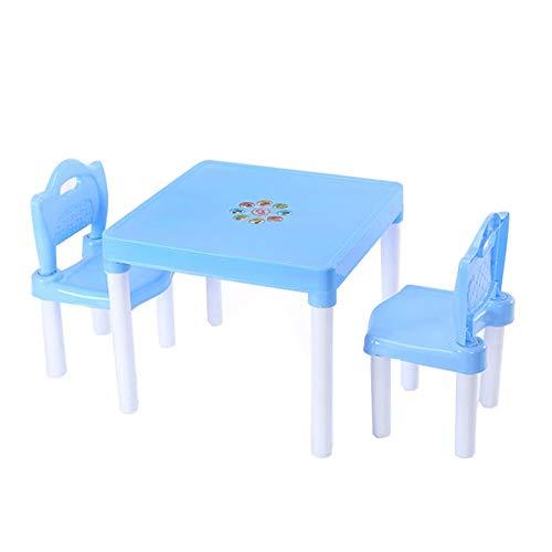 Sumferkyh Rehausseur de Poche Enfants Enfants Table Et Chaises for L'étude for L'activité Jardin Intérieur (Couleur : Bleu, Taille : 51x43/49x25cm)