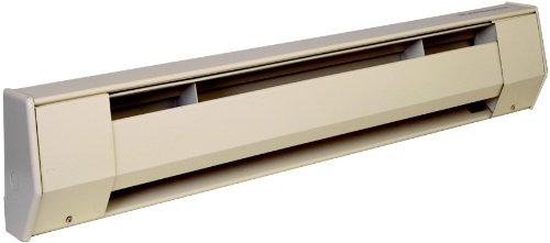"""KING 2K2405A K Series Baseboard Heater, 27"""" / 500-375W / 240-208V, Almond"""