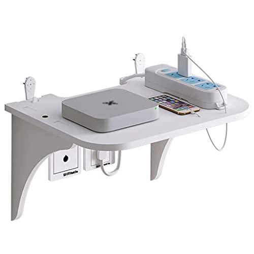 Router rack Soporte de Pared para enrutador, Estante de Pared Flotante, Caja de Almacenamiento WiFi, Caja organizadora de Cables, Protector de Tira de alimentación Oculta (Size : 23×19×13.5cm)