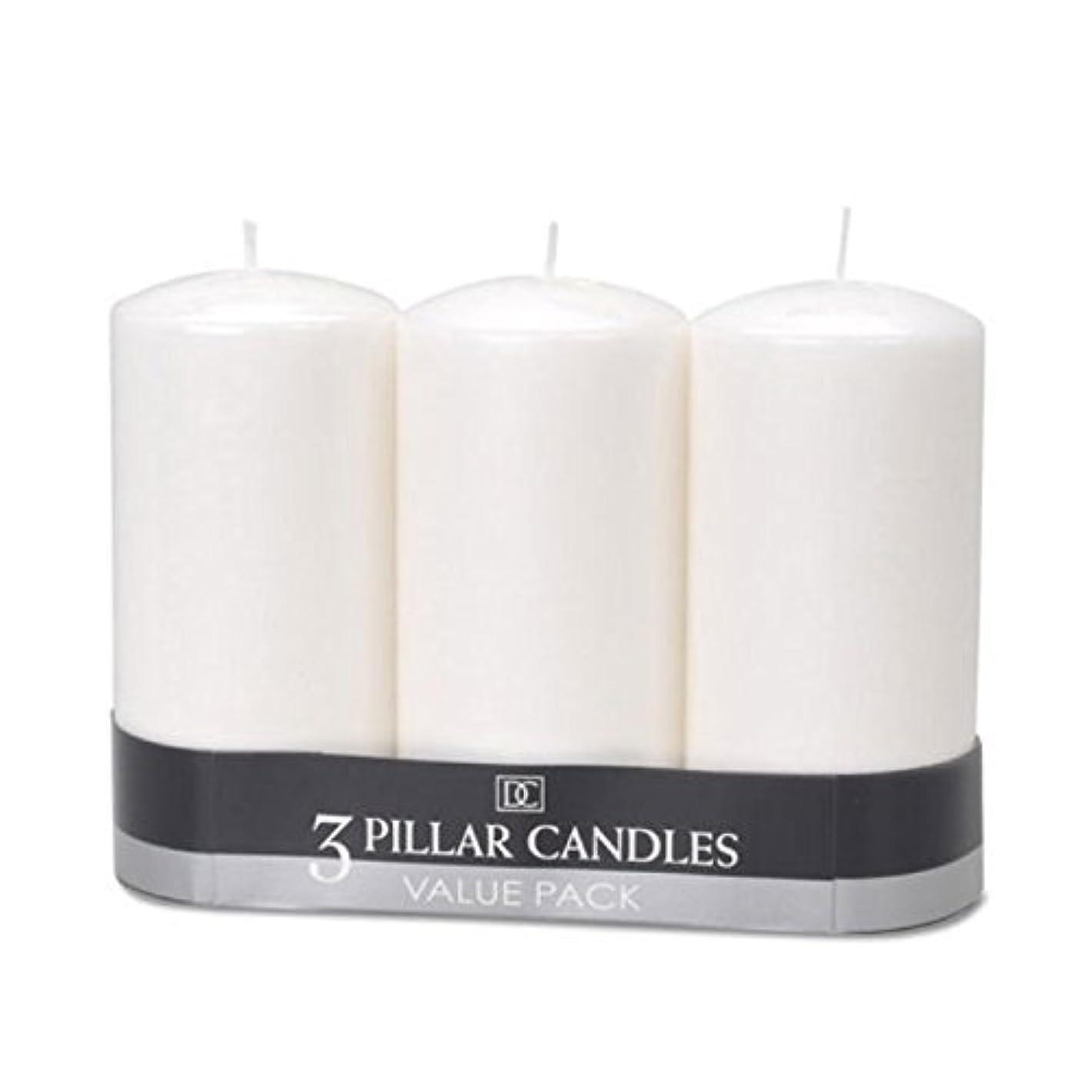 醜い計算可能委任(2) - DYNAMIC COLLECTIONS 3 Pillar Candles value pack, White 2pk