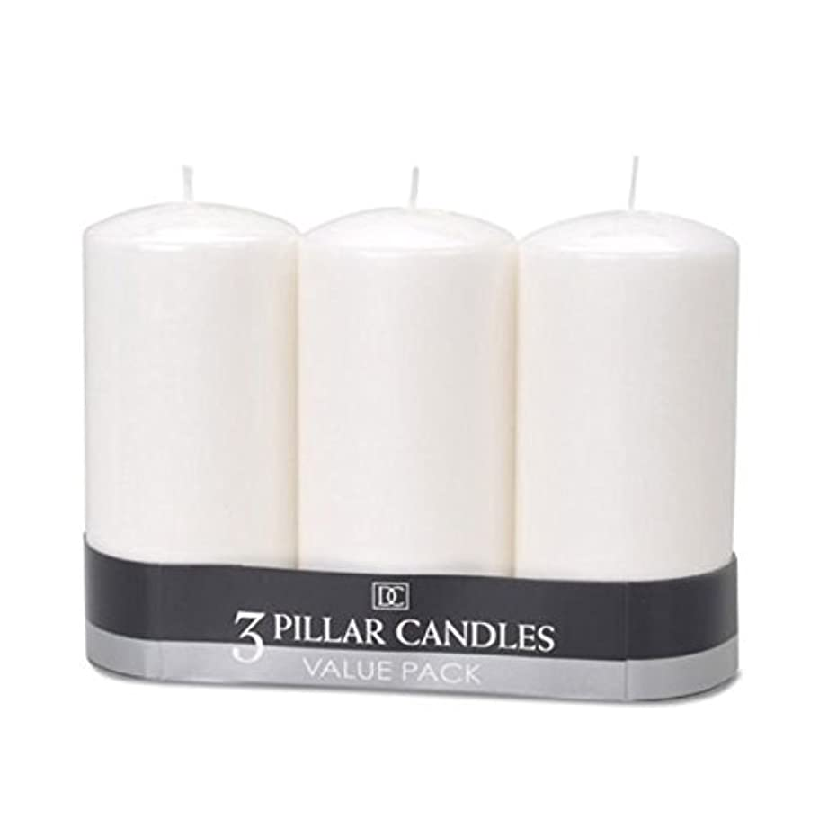嵐の苦しみ解任(2) - DYNAMIC COLLECTIONS 3 Pillar Candles value pack, White 2pk