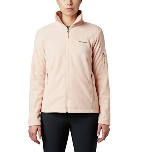 Columbia Women's Plus Size Fast Trek II Full Zip Soft Fleece Jacket, Peach Cloud, 2X