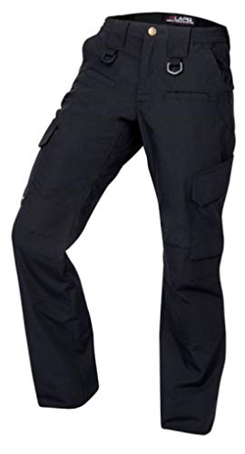 LA Police Gear Women's Operator Pant with 8 Pockets and Elastic Waist - Navy-12-REG