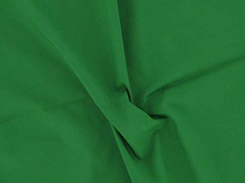 Dalston Mill Fabrics Tessuto in Policotone, Verde Smeraldo, 1 m