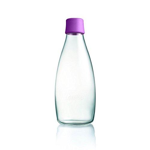 Wiederverwendbare Wasserflasche mit Verschluss - 0,8 Liter, Farbe:Purple