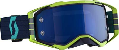 Scott Prospect MX Goggle - Gafas de motocross y bicicleta de montaña, color azul, amarillo y azul eléctrico