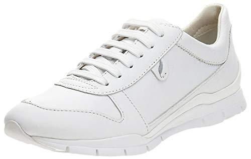 Geox Damen D Sukie a Sneaker, Weiß (WHITEC1001), 39 EU