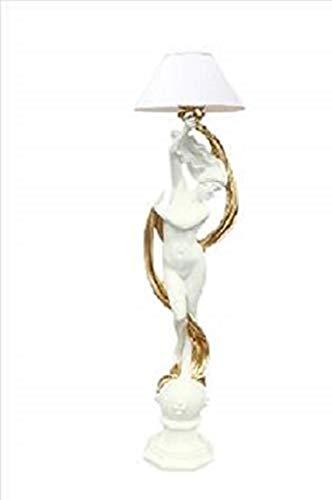 Kunibert vloerlamp figuur lamp Venus met lampenkap kleur wit met goud hoogte 200cm