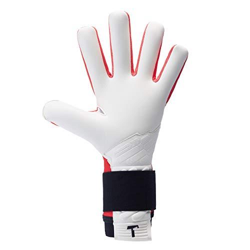 T1TAN Red Beast 2.0 Torwarthandschuhe mit Fingerschutz, Fußballhandschuhe Herren & Erwachsene - 4mm Profi Grip - Gr. 10 - 4
