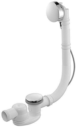 Jacob Delafon E6D015-00 afvoergarnituur met sifon, extra plat, met verstelbare overloop, wit