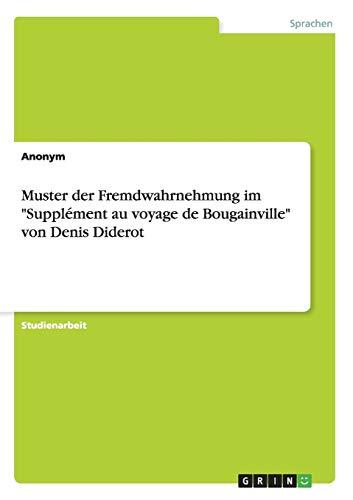 Muster der Fremdwahrnehmung im Supplément au voyage de Bougainville von Denis Diderot