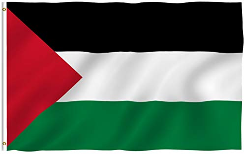 Anley Fly Breeze 3x5 Foot Palestine Flag - Vivid Color and Fade Proof - Canvas Header and Double Stitched -Palestinian Flags Polyester with Brass Grommets 3 X 5 Ft