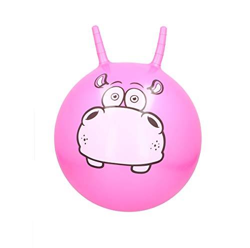 Eddy Toy´s Pelota saltadora para niños con asas, pelota de salto, pelota de gimnasia, carga máxima de 50 kg, diseño de animales, color rosa
