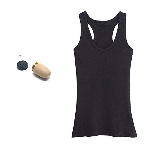 Camiseta Bluetooth con Micrófono + Auricular Invisible VIP