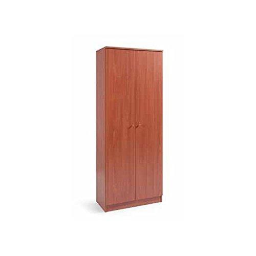Esse Italia Armadio scarpiera in legno nobilitato 2 ante ciliegio 6 ripiani cm182x71x38