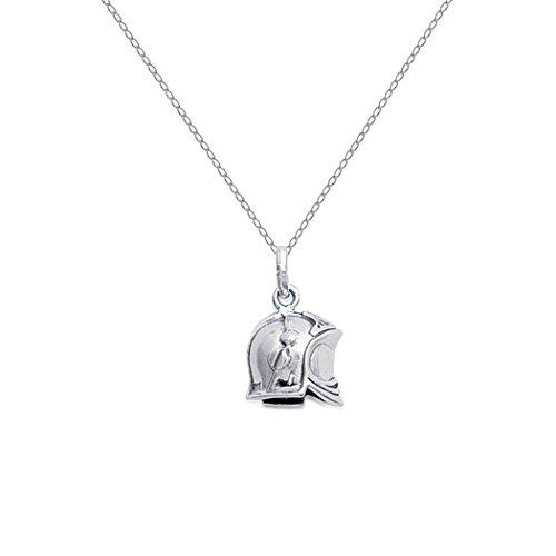 Lolita-Bling Halskette Feuerwehrhelm 3D, Silber 925,Ref. 1805500