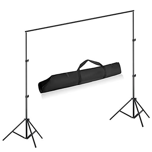 Hintergrund Ständer 2 x 3m, verstellbares Bereite 1,55-3m, Höhenverstellbar 0,7 m-2 m und 1 x Tragetasche für Fotostudios, Produktfotografie,...
