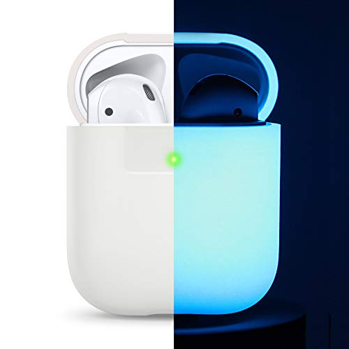 elago Funda Silicona Compatible con Apple AirPods 1 & 2 (LED Frontal Visible) - Luminuso Azul