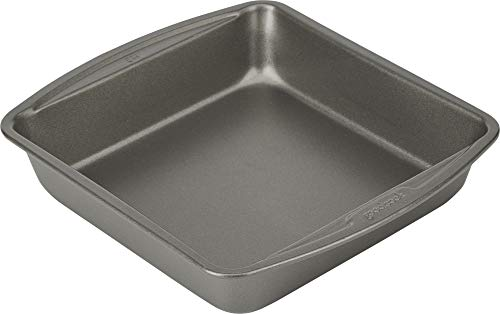 Good Cook 04017 786173391991 8 Inch x 8 Inch Square Cake Pan, 8 x 8 Inch, Grey