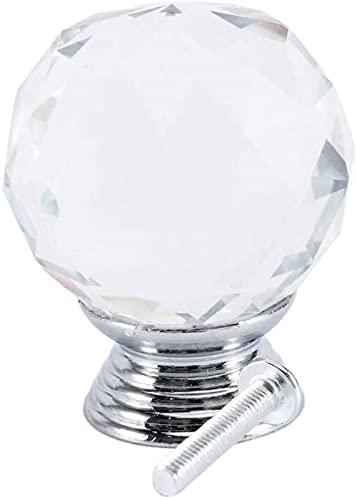 Manijas de Puerta Manijas de gabinete Diseño en Forma de Diamante Perillas de Vidrio de Cristal Manija de Tirador de cajón de Armario Manijas de Armario de Puerta de gabinete
