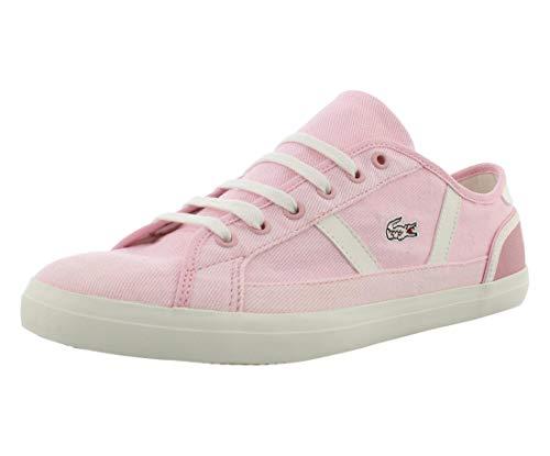 Lacoste Women's Sideline Sneaker, Light Pink/Off White, 6 Medium US