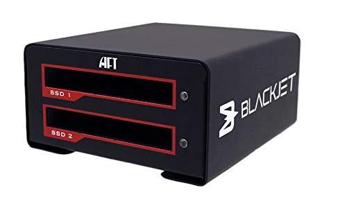 Blackjet VX-2SSD USB 3.1 Gen 2 10Gbps USB Type-C [Thunderbolt 3 Compatible], Dual SSD Docking Station [Supports UASP][SATA3] RAID 0, RAID 1, JBOD, Storage, Archive