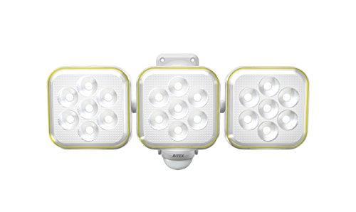 ムサシ RITEX フリーアーム式LEDソーラーセンサーライト(5W×3灯) 防雨型 S-90L