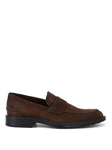 Tod's Mocassini in Suede Con suola Con Gommini XXM45A00640RE0S800 Marrone Uomo 6