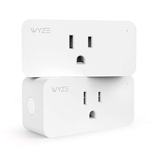 Wyze Labs Wlpp1 Smart Home WiFi Plug, Voice Assistant Controlled Alexa and Google Assistant Enabled with Timer and Vacation Mode, 2-Pack, White