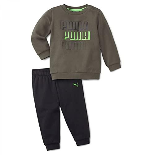 PUMA MINICATS ALPHA Crew Jogger FL Trainingsanzug Sportanzug 589370 Khaki, Bekleidung:104