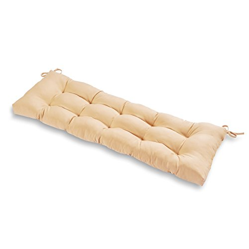 Greendale Home Fashions Outdoor 51-inch Bench Cushion, Stone