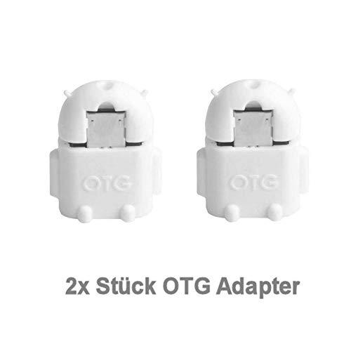 KRS 2xA1 Weiss - USB OTG Robot - OTG Adapter Micro-USB-Stecker Typ B/USB-Kupplung Buchse Typ A OTG Android Roboter Robot -USB Adapter