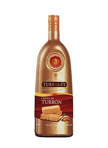 Turroley - Licor de Crema de Turrón - 3 Botellas x 700 ml - Total: 2100 ml