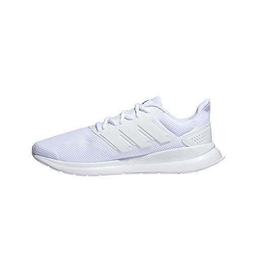 adidas RUNFALCON, Running Shoe Hombre, Blanco Ftwbla Ftwbla Ftwbla 000, 44 EU