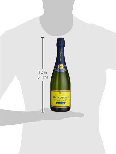 Monopole Heidsieck Blue Top Brut Champagner mit gelber Neoprenkühlmanschette (1 x 0,75 l) - 6