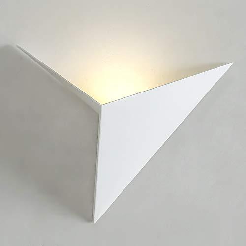 Dreieck LED Wandleuchte Nordischen Stil Schlafzimmer StudieHotelzimmer NachtWohnzimmer Lampe3 Watt Dekorative Lichter LQCN-Weiß-Warmweiß (2700-3500 Karat)