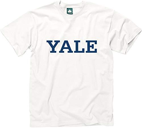 Ivysport Yale University Short-Sleeve T-Shirt, Classic, White, Medium