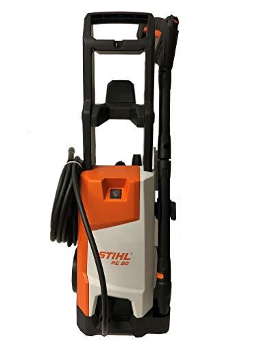 Stihl RE 90 - Hidrolimpiadora 10-100 bar, 520 l/h, peso 9,6 kg, juego para pulverizador y boquilla giratoria y plana, con tubo de 6 m de longitud.
