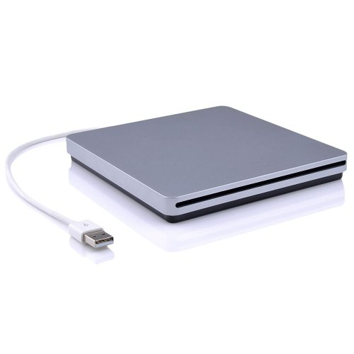 CYBERNOVA Unidad de Seguridad USB Externo CD-RW Slim Burner, Unidad DVD-RW, Super Drive Player Writer (Grabadora de CD/RD) para Apple MacBook Air Pro