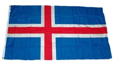 Flaggenking Flagge Island Fahne, Weiß, 90 x 150 cm
