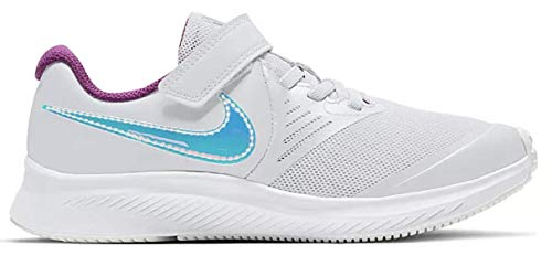 Nike Star Runner 2 Codes (GS), Zapatillas para Correr Unisex niños, Pure Platinum Multi Color Barely Volt Red Plum White, 33 EU