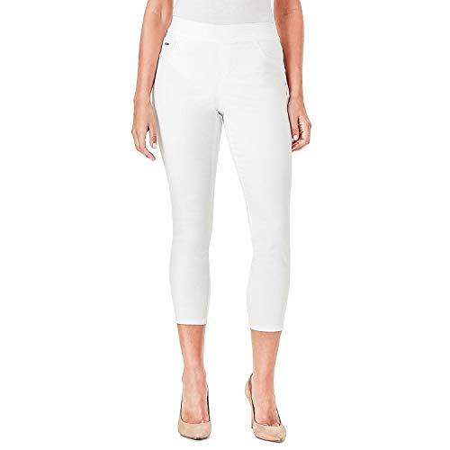 NINE WEST Womens Heidi Pull-On Skinny Crop Jeans (White, 14)