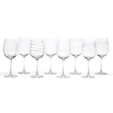 Mikasa Cheers White Wine Glasses, 16-Ounce, Set of 8