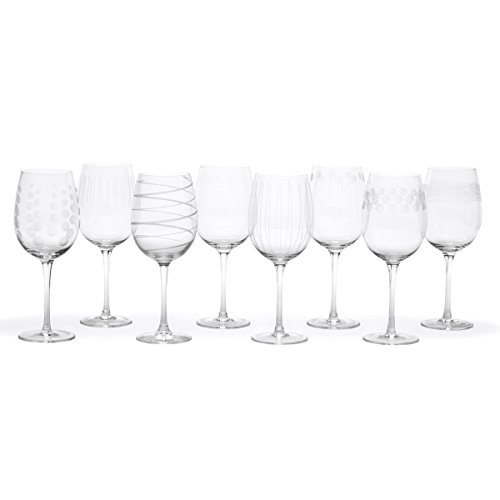 Mikasa Cheers White Wine Glasses, 16-Ounce, Set of 8