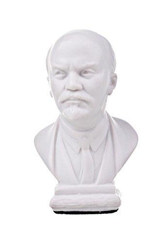 Busto de mármol del líder soviético de la URSS Vladimir Lenin, escultura de 10,4 cm, blanco, de danila-souvenirs.