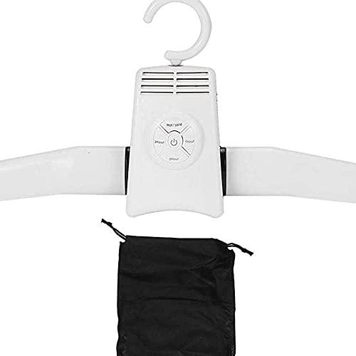 YuKeShop Elektrischer Wäscheständer, tragbarer Kleider- und Schuhtrockner Kleiderbügel 5 kg, Faltenentferner, zusammenklappbar, Wäscheschuhtrockner für Haushalt, Reisen – heiß und kalt Dual-Modus