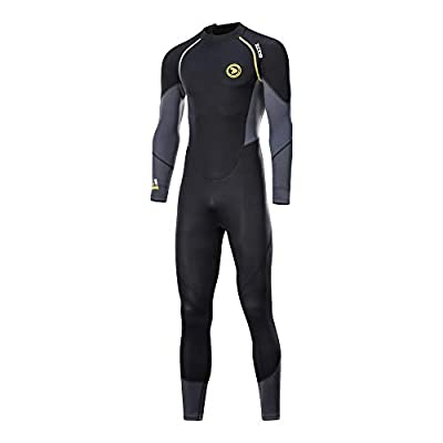 Wetsuits Men's 1.5mm Premium Neoprene Full Sleeve Back Zip UV Protection Dive Skin for Spearfishing,Snorkeling, Surfing,Canoeing,Scuba Diving Suits