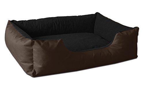 BedDog® lit pour Chien LUPI, Brun/Noir, L env. 80x65 cm,Panier Corbeille, Coussin de Chien